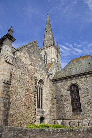 st malo cathedral in the north of france photo