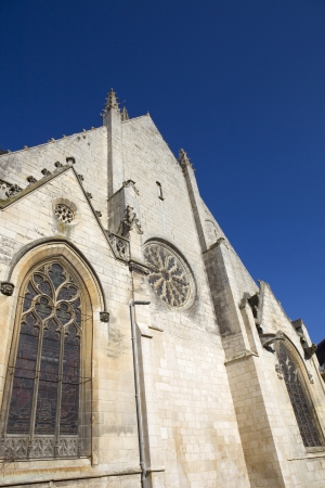 secular: Niort ancient gothic church, Aquitaine, France Stock Photo