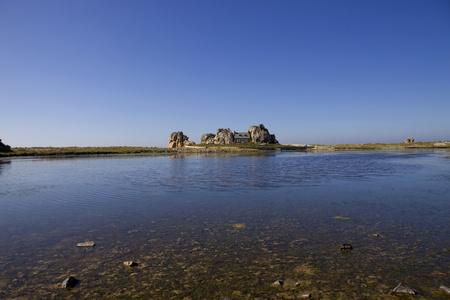 cote de granit rose: famous house on the rocks at ploumenach, cote de granit rose