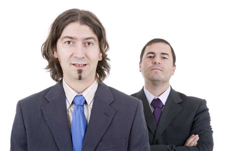 two young business men portrait on white Stock Photo - 21269139