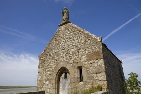 mont saint michel: Saint Aubert Chapel, in Mont Saint Michel, France