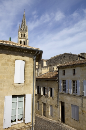 view of saint emilion, in aquitaine, france photo