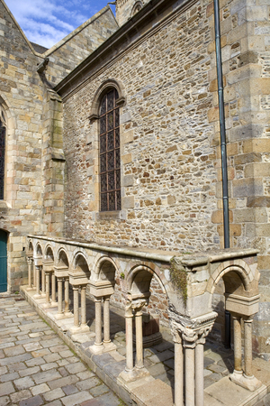 st  malo: st malo cathedral in the north of france Editorial