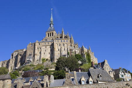 mount saint michael: mont saint michel view, in the north of france Stock Photo