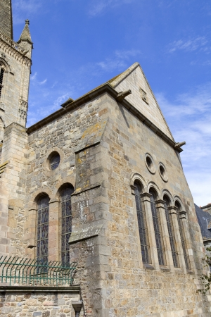 st malo: st malo cattedrale nel nord della Francia Archivio Fotografico