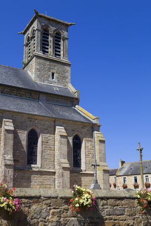 cote de granit rose: Penvenan church in Brittany, North of France