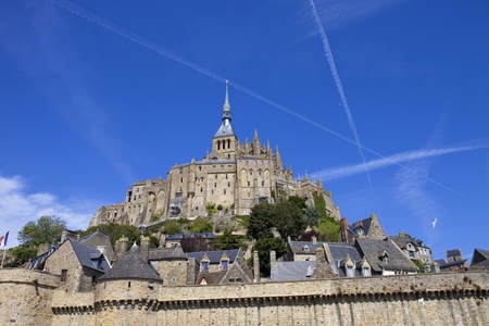 mont saint michel view, in the north of france photo