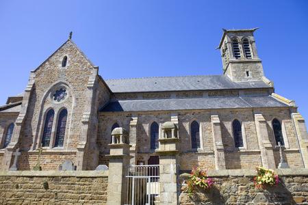 cote de granit rose: Penvenan church in Brittany, North of France