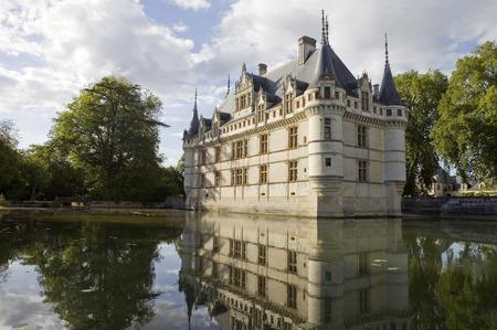 loire: chateau azay-le-rideau in loire valley, france Editorial