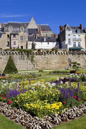 The historic city of Vannes in Brittany, France photo