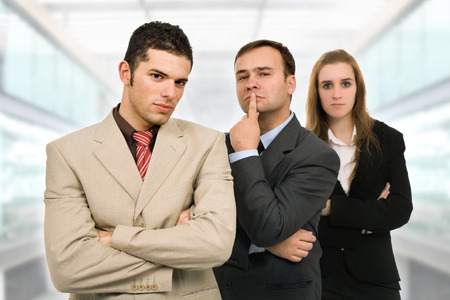 young business team, at the office photo