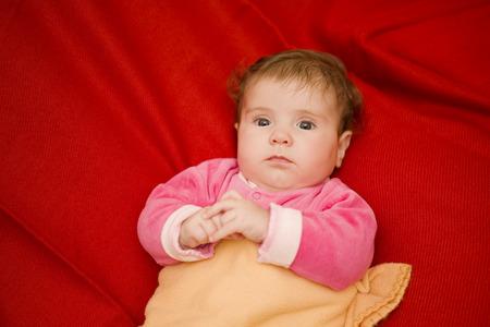 studio picture: young baby portrait, studio picture Stock Photo