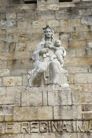 galicia: Monteferro statue at Nigran, Galicia, Spain Stock Photo