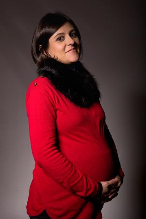 studio picture: pregnant young woman studio picture Stock Photo