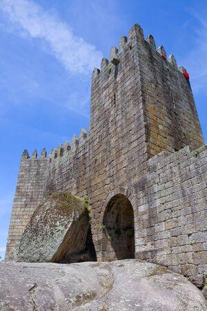 guimaraes: Guimaraes castle detail, in the north of Portugal. Editorial