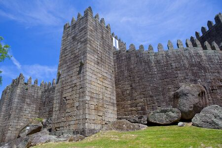 castle district: Guimaraes castle detail, in the north of Portugal. Editorial
