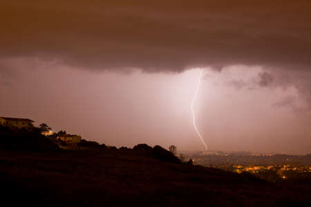 electricity background: lightning bolt in the city of Braga, in the north of Portugal
