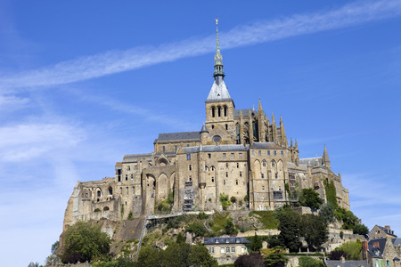 mount saint michael: mont saint michel view, in the north of france Editorial