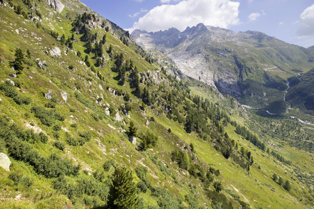 saanenland: Landscape in the Swiss Alps