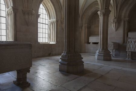 cistercian: Interior of the Alcobaca Monastery. This monastery was the first Gothic building in Portugal. Editorial