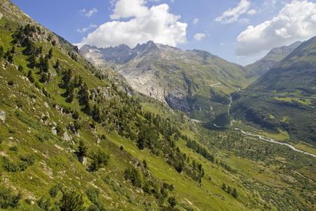 gstaad: Landscape in the swiss alps, canton berne; switzerland