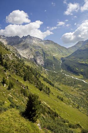 Landscape in the swiss alps, canton berne; switzerland