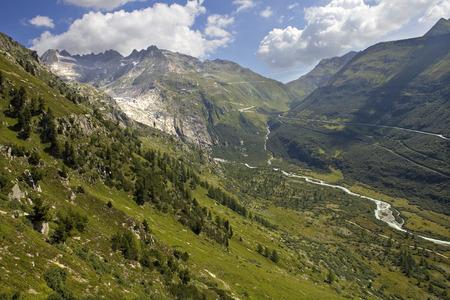 spitzhorn: Landscape in the swiss alps, canton berne; switzerland