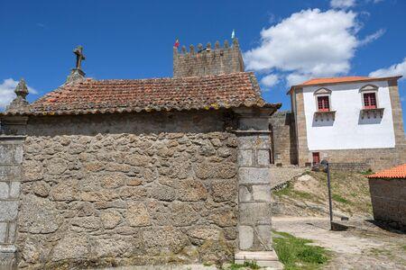 Belmonte castle and chaple. Historic village of Portugal, near Covilha