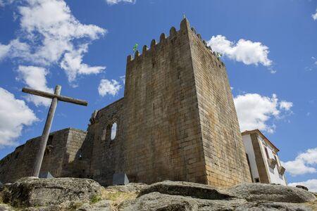 Belmonte castle. Historic village of Portugal, near Covilha Stock Photo