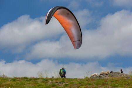 Paragliding Festival Aboua Cup de Caldelas 2016, in the north of Portugal, 4 June, 2016, Caldelas, Portugal. Editorial