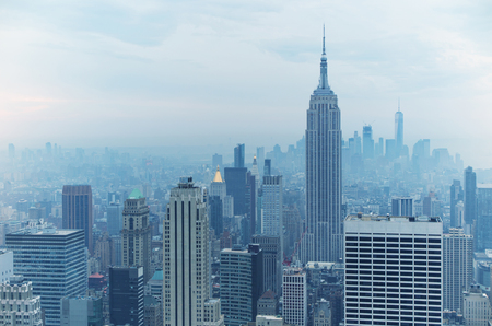 fifth avenue: Cloud day in New York Stock Photo