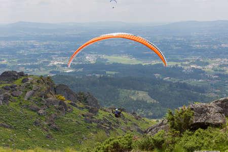 parapendio: Paragliding Festival Aboua Cup de Caldelas 2016, in the north of Portugal, 4 June, 2016, Caldelas, Portugal. Editorial