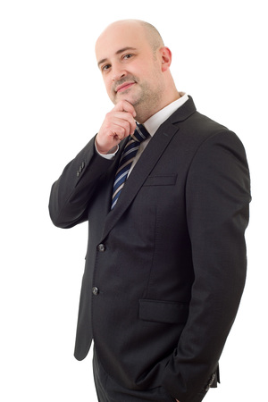 happy business man portrait isolated on white Stock Photo