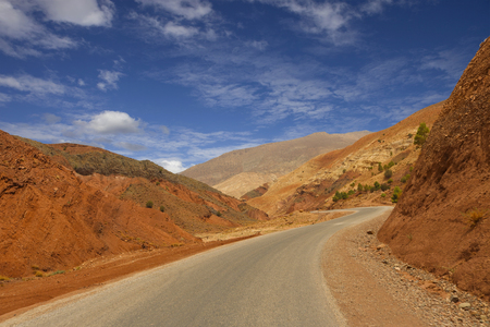 Road in the mountains at the Atlas, north of Morocco Stock Photo
