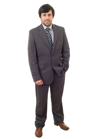 businessman full body isolated on white background