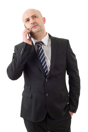 business man on the phone, isolated
