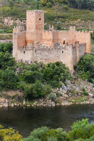 Almourol Castle is a medieval castle in central Portugal situated on a small rocky island in the middle of the Tagus river.
