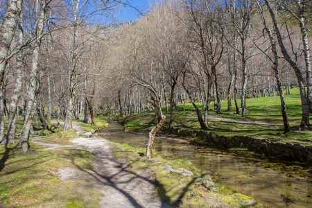 Covao d'ametade in the Serra da Estrela Natural Park. Portugal Standard-Bild - 108333197