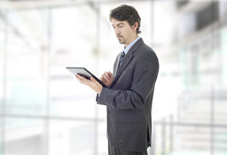 businessman with a tablet pc, at the office