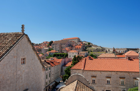 tourists in the Old town of Dubrovnik, Croatia. Dubrovnik is a UNESCO World Heritage site