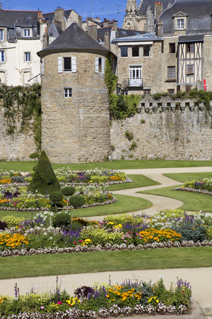 Vannes, medieval city of Brittany in France Editorial