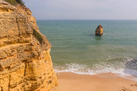 Beautiful Beach of Praia da Marinha, Marinha in Algarve, Portugal