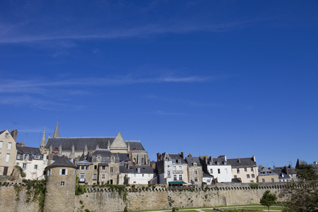Vannes, medieval city of Brittany in France Stock Photo