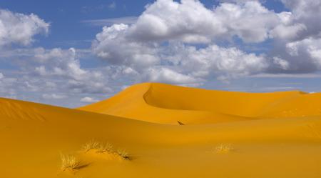 sahara desert dunes, in Morocco Stock Photo