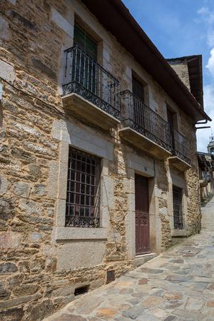 Old houses of Puebla de Sanabria, Castilla y Leon, Spain Stock Photo