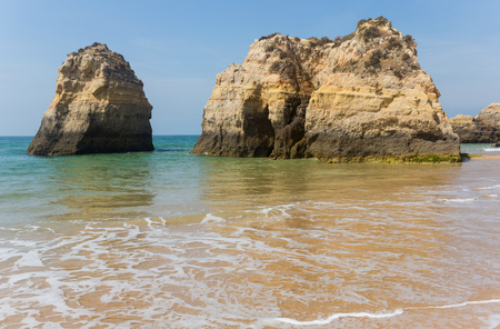beach of Praia da Rocha, in the Algarve, Portugal