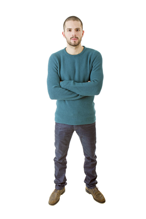 casual man full body in a white background Stock fotó