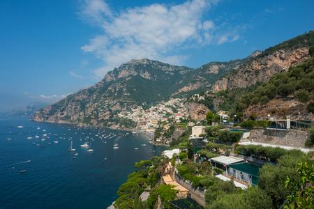 Coastal towns in Capri, Italy. Positano, and Amalfi coast
