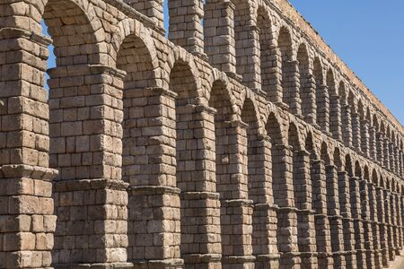 Segovia Aqueduct, ruins of ancient Rome, Segovia, Spain