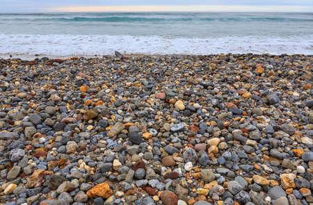 the beach of Vega, near Llanes, Asturias, Spain